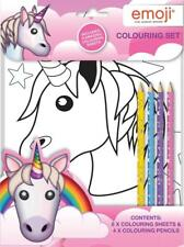 Emoji Unicorn Colouring Set Kids Activity Pack Gift Party Bag Filler Children