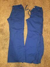 Womens Lot Of 4 Medical Scrub Pants Small Petitie 24001P Royal Blue Royb 4200p