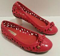 Women's Size 7 Dana Buchman DBfinley Salmon Pink Flats Slip ons Shoes Ballet