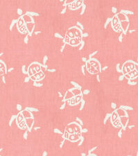 Pink Drapery Upholstery Fabric PK Lifestyles (Waverly) Sea Turtles CL Hibiscus
