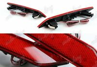 60-LED RED LENS REAR BUMPER REFLECTOR MARKER LIGHT FIT 13-15 HONDA CIVIC 4DR