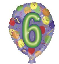 "Number 6 6th Birthday 18"" Balloon Birthday Party Decorations"