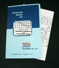 EICO Model 950A Resistance-Capacitance Compactor Bridge Instruction Manual