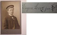 Wingolf Bonn - jur. Eugen Lenz - WS 1903/04  CDV Widmung mit Zirkel / Studentika