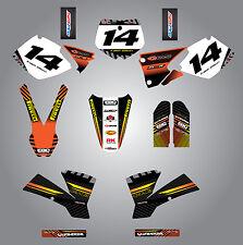 KTM 250 SX 2001 - 2002 Full  Custom Graphic  Kit -FACTORY STYLE