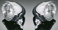 CHROME SPOTLIGHTS SET (PAIR) Motorcycle/Chopper/Bobber/Harley/Custom: 68-1240