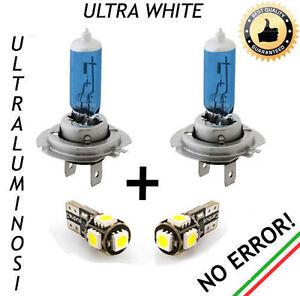 COPPIA LAMPADINE H7 EFFETTO XENON + COPPIA LUCI DI POSIZIONE 5 LED CANBUS