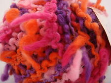 Sirdar CURLY WURLY.10 x 50g balls. 682 CYCLAMAN.  CHUNKY EYELASH knitting yarn