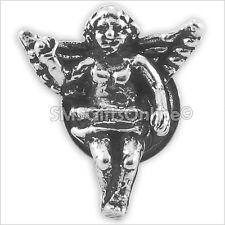 Sterling Silver Keepsake Charm Guardian Angel Pin / Brooch