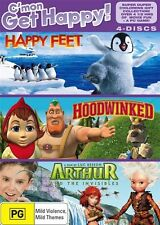 Happy Kids Collection - Happy Feet / Arthur And The Invisibles / Hoodwinked...