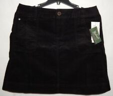 Woolrich Skirt Black 14 (36x19) Black Dress Career A Line Micro Corduroy MSR 59$