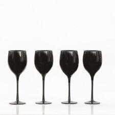 Set of 4 BLACK WINE GLASSES Drinkware