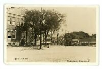 RPPC Dirt Street View Cafe TRENTON GA Georgia Real Photo Postcard