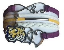 Louisiana State University Tigers Lsu College Infinity Bracelet