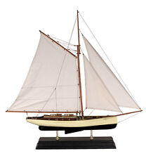 Authentic Models 1930s Classic Yacht Sailing Boat Model 90cm