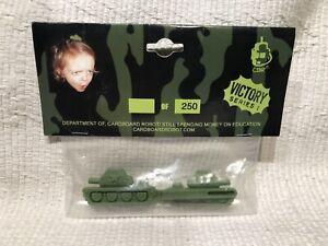 CARDBOARD ROBOT CBR 1 Pair green Army Tanks HAIR CLIPS Barrette