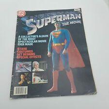 Vintage UK Superman THE MOVIE Collector's Album DC Comics Inc. (1979) 33x26