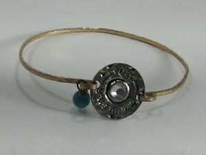 Finished SHOTGUN 12 Gauge SHELL Engraved Bullet Shell Design Bangle Bracelet