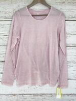 All In Motion Sz Large Athletic Top Shirt Lilac Long Sleeve Split Knotted Back
