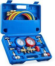 Ac Gauge Set Manifold Gauges Freon Charge Kit For R134a R12 R502 Refrigerant