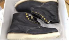VISVIM VIRGIL LEATHER BOOTS BLACK FOLK (KNGR) Size 10 Kangaroo