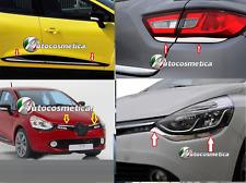 Chrome set arrière+depuis+grill+retour+feu en acier inoxydable pour Renault Clio