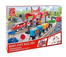 Hape occupé City rail train set en bois jouet