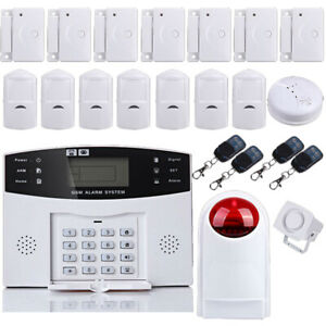WIRELESS LCD GSM AUTODIAL SMS HOME HOUSE OFFICE SECURITY BURGLAR INTRUDER ALARM