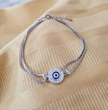Evil eye foe inspired Turkish eye elastic evil eye hair ties spiritual foe-5//8