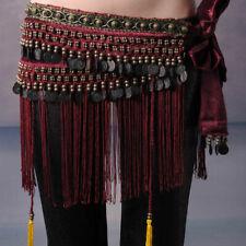Belly Dance Classical Fringe Skirt Hip Scarf Coin Belt Tribal Style WaistTassel