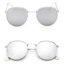 Fashion Men Women's Vintage Round Sunglasses Cute Retro Oversized Mirror Glasses