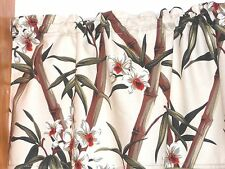 Tropical Hawaiian 100% Cotton Barkcloth Fabric VALANCE ~Bamboo-Cream~