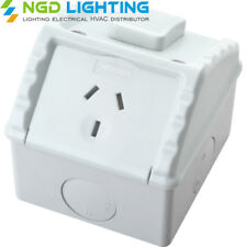 Weatherproof Single Power Point Outlet Socket GPO Water Proof External Outdoor