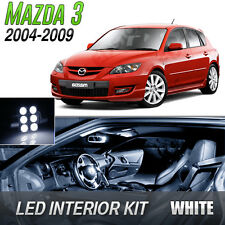 2004-2009 Mazda 3 White LED Lights Interior Kit MazdaSpeed 3