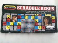 Vintage Scrabble Rebus Family Board Word Pun Tile Game Spears Games Retro 80s