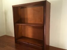 Vintage Wood MCM Small Bookshelf 2 Tier Mahogany