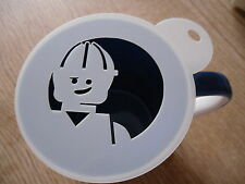 Laser cut construction lego coffee and craft stencil