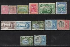 JAMAICA Early STAMPS MH & USED LOT OV 13,CV:$52.00