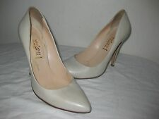 Mercanti Fiorentini Leather Pointy Pumps Heels Beige Shoes Size 8.5