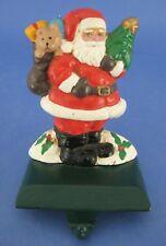 Christmas Stocking Holder Hanger Cast Iron Santa Claus Toy Bag Tree Teddy Bear