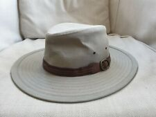 Marks and Spencer Mens Cotton Khaki Summer Hat Size Small