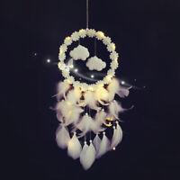 Sn _ Main Dream Attrapeur Plumes Nuages Fleurs Creux Vent Carillons Décor St.