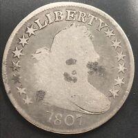 1807 Draped Bust Half Dollar 50c Mid Grade #6248