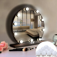 10 LED Dimmable Mirror Light Kit Hollywood Vanity Makeup Dressing 12V USB AU