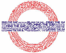 Framed Print - London Underground Sign Mind The Gap (Picture Poster Subway Art)