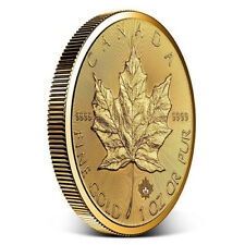 2019 1 oz Canadian Gold Incuse Maple Leaf Coin (BU)