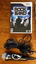 Rock Band (Nintendo Wii) GAME COMPLETE w/MICROPHONE METALLICA BON JOVI KISS ++++