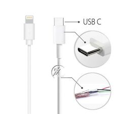 USB-C 3.1 Type C Male to 8 Pin Lightning data Charge Cable iPhone/MacBook Etc 1M
