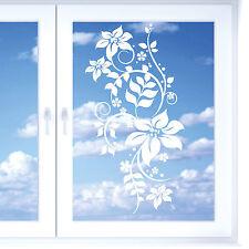 11097 Wandtattoo-Loft Fenster Aufkleber Blumen Ranken Blüten floral natur flower