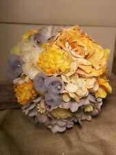 grey yellow shabby chic wedding brooch bouquet country fall rose